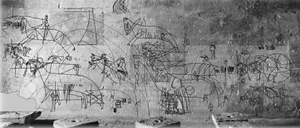 Grafitos Medievales - Monasterio de la Oliva - Ozcáriz